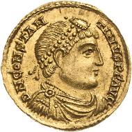 1022: Kaiserzeit. Constantinus III. Solidus, 408-411, Trier. RIC 1514, Kampmann 180.4. vz-prägefrisch. Taxe: 6.000 Euro.
