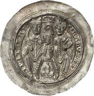 1685: Mainz, Erzbistum. Konrad I. von Wittelsbach, 2. Regierung 1183-1200. Brakteat, Fritzlar. Berger -. Schrötlingsrisse, vz+. Taxe: 3.500 Euro.