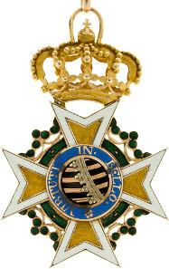 191: Sachsen, Militär-St. Heinrichs-Orden, Ritterkreuz. Verliehen bis 1815. Gold. OEK - vgl. 2288 Variante. Kl. Emailleschäden, sonst vz. Taxe: 3.900 Euro.