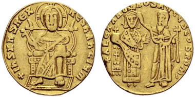 339: Byzantine Empire. Alexander. Solidus, 912/913, Constantinople. DOC 2. S. 1737. Very fine. Estimated: 25,000 CHF.
