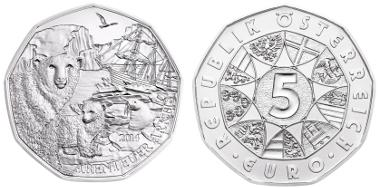 5 euro/ Silver/ 28.5 mm/ Design: Thomas Pesendorfer, Helmut Andelinger/ Mintage: 50,000. © Austrian Mint.
