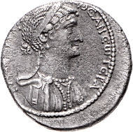 Los 87: Syrien, Antiochia, Marc Anton und Kleopatra, Tetradrachme, ca. 36 v. Chr. Schätzpreis: 12.500 Euro.