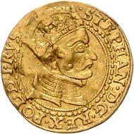Los 736: Polen, Stephan Bathory, Dukat 1579. Schätzpreis: 3.500 Euro.