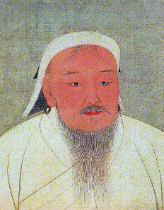 Chinggis Khan as portrayed in a 14th-century Yuan era album. Source: Wikicommons.