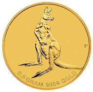 Australia / 2 AUD / 0.016oz 9999 Gold / 0.5g / 11.60mm / Design: Tom Vaughan / Mintage: Unlimited.