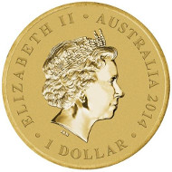 Australia/ 1 AUD/ Aluminium Bronze/ 13.8 g/ 30.60 mm/ Design: Tom Vaughan/ Mintage: Unlimited.