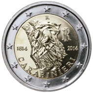 The new Italian 2 Euro coin.