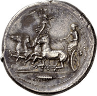Lot 17: Greek, Syracuse, Tetradrachm, signed Kimon (ex Auction Leu 76, Lot 57 dated 27 october 1999). Estimate: CHF 1,000,000.