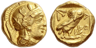 Lot 46: Greek, Athens, Gold stater. Estimate: CHF 350,000.