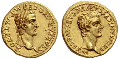 Lot 843: Roman Empire, Caligula and Germanicus, Aureus. Estimate: CHF 100,000.