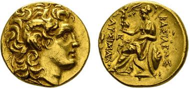 THRACIA, Lysimachos, 323-281 v.u.Z. Stater, ab ca. 280 v.u.Z., Callatia. Müller Lys. 240. Ausruf: 2.200 Euro.