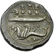 Nr. 291: PHOINIKIEN, BYBLOS. Azbaal, 400-476 v. Chr. Schekel. SNG Cop. 132. Vorzüglich. 3.800 Euro.