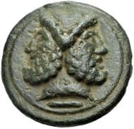 Nr . 450 AES GRAVE, ROM. Libralserie. As, 225-217 v. Chr. Haeberlin Tf. 15, 9. Vorzüglich. 2.500 Euro.