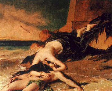 William Etty, Hero and Leander, 1828. Quelle: Wikicommons.