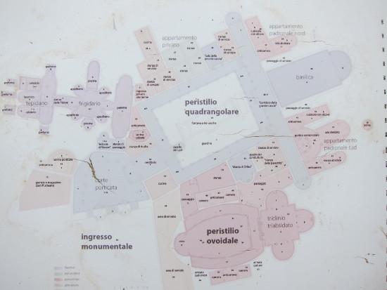 Plan der Villa Casale. Foto: KW.