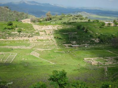 Blick auf die Ausgrabungen von Morgantina. Foto: KW.