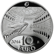 Italy/ 10 EUR/ Silver 925/ 22 g/ 34 mm/ Mintage: 6,500.