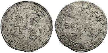 969: Batenburg (Niederlande). Hermann Diederich von Bronckhorst (1573-1602). Taler 1577. Unediertes Unikum. Sehr schön. Schätzung: 20.000 Euro.