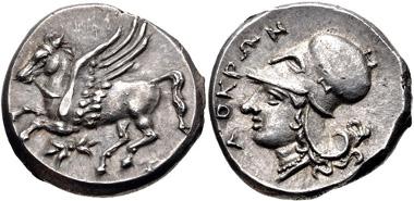 289: BRUTTIUM, Lokroi Epizephyrioi. Circa 350-275 BC. Stater. HN Italy 2342. EF. Estimate $1000.