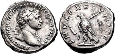 839: PHOENICIA, Tyre. Trajan. Didrachm. Struck AD 103-111. Prieur 1485. VF. Estimate $200.