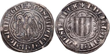 1027: ITALY, Sicilia (Regno). Pietro I il grande (the Great). 1282-1285. Pierreale, Class B3, Messina mint. MEC 14, 763-4. Good VF. Estimate $150.