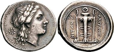 Tauromenion. 4 Litrai, 274-216. Aus Auktion Peus Nachf. 407 (2012), 268.