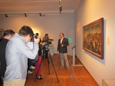 The press conference at the Museum zu Allerheiligen was well attended by TV, radio and press. Photo: UK.