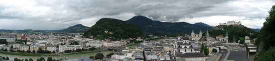 Panorama view of the old town in Salzburg. Source: Newdecade/ http://creativecommons.org/licenses/by-sa/3.0/deed.en.