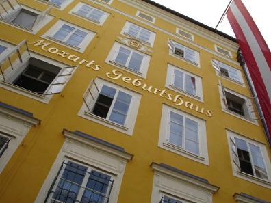Mozart's birthplace in Salzburg. Source: Jonathan White/ Wikicommons.