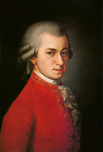 W. A. Mozart, posthumous portrait by Barbara Krafft in 1819. Source: Wikicommons.