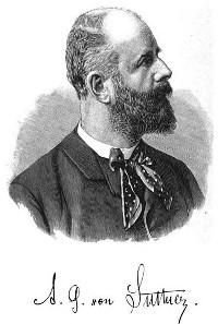 Arthur Gundaccar von Suttner. Quelle: Wikicommons.