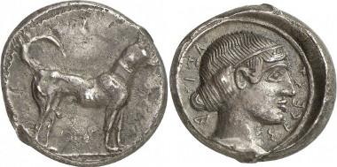 Segesta. Didrachmon, ca. 475/70-455/50. Aus Auktion Gorny & Mosch 190 (2010), 55.