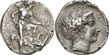Segesta. Tetradrachm, end of the 5th c. From Gorny & Mosch sale 175 (2009), 41.