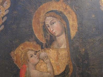 Madonna Lactans, Gemälde aus dem 14. Jh., einst in der Kathedrale von Monreale. Foto: KW.