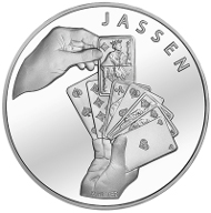 Switzerland / 20 CHF / Silver .835 / 20g / 33mm / Design: Roland Hirter / Mintage: 7,000 (Proof), 50,000 (standard coinage uncirculated).