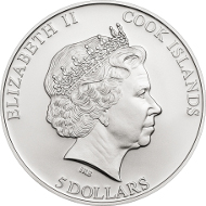 Cooks Islands / 5 Dollar / 925 Silber / 20 g / 38,61 mm / Auflage: 1.500.