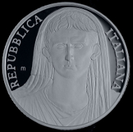Italy / 10 euros / 925 silver / 22g / 34mm / Mintage: 5,000.