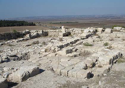 Ruins at Tel Megiddo. Photo: Joe Freeman / Wikipedia.