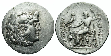 10: Macedonian Kingdom. Alexander III 'the Great'. Tetradrachm, Cabyle mint, 225-215 B.C. Price 885. gVF. Estimate: $700.