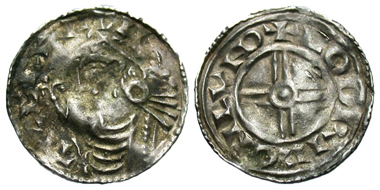 166: Anglo-Saxon, Kings of All England. Cnut. Penny, London mint, ca. 1029-1035. Godric, moneyer. SCBC 1159. VF, wavy flan. Estimate: $350.