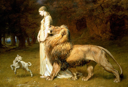 Briton Rivière (1840-1920), Una and the Lion. Source: Wikipedia.