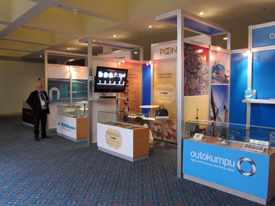 View inside the exhibition floor. Photograph: UK.