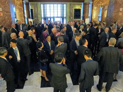 Die Teilnehmer des Kongresses erholten sich vom ersten Tagungsabend im Palacio de Bellas Artes. Foto: UK.