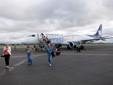 Ein Flieger brachte einen Teil der Kongressteilnehmer zur mexikanischen Münzstätte in San Luis Potosí. Foto: UK.