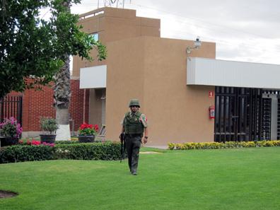 Die mexikanische Münzstätte. Leider war im Inneren das Fotografieren streng verboten. Foto: UK.