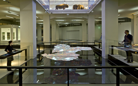 smac: State Museum of Archaeology Chemnitz, dynamic model of Saxony / Photo: Michael Jungblut.