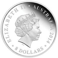 Australia / 8 AUD / 5 oz / Silver .999 / 65.6 mm / Design: Natasha Muhl / Mintage: 400.