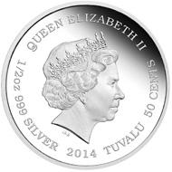 Tuvalu / 0.5 TVD / 1/2 oz / Silver .999 / 36.6 mm / Design: Ing Ing Jong / Mintage: 6,000.