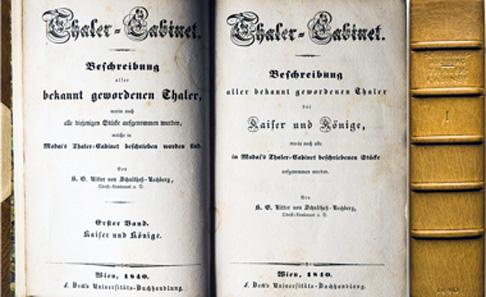 Los 2684: SCHULTHESS RECHBERG, K.G. Thaler-Cabinet. Beschreibung aller bekannt gewordenen Thaler ... 3 Bände, Wien 1840-1867.