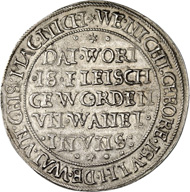 Münster. Thaler 1634, restrike from the 17th century. Dav. 9583var. Geisberg 12. From auction sale Künker 249 (1 July 2014), 1838.
